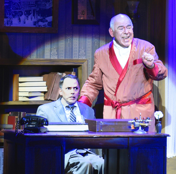 Mark Price and Lenny Wolpe star in the blockbuster Mel Brooks musical The Producers, onstage through January 29 at the Maltz Jupiter Theatre. Photo by Alicia Donelan.