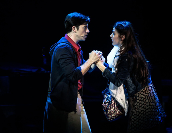 Bryan Banville (Man #2) and Charlene Koepf (Woman #1) in Songs For A New World. Photo