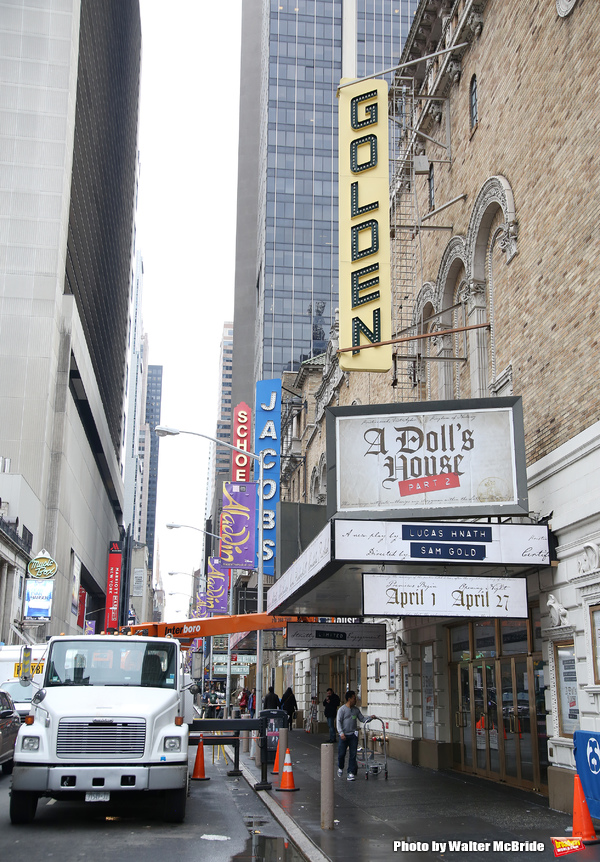 Theatre Marquee installation for 'A Dolls House Part 2'  starring Laurie Metcalf, Jay Photo