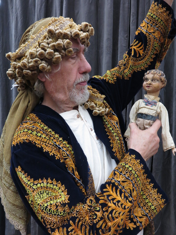 Vit Horejs with Plavacek puppet. Photo by Remy.S. Photo