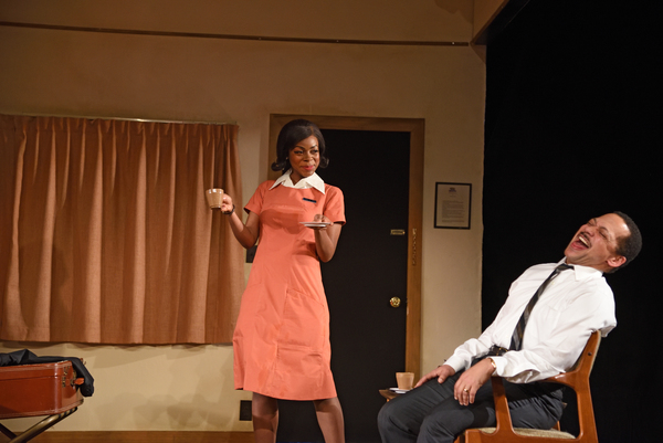 ​From left to right: Mia Ellis as Camae and Joe Wilson, Jr. as Dr. Martin Luth Photo