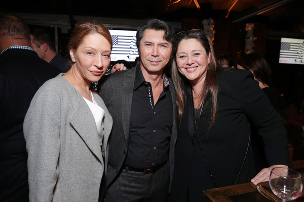 Yvonne Boismier Phillips, Lou Diamond Phillips and Camryn Manheim Photo