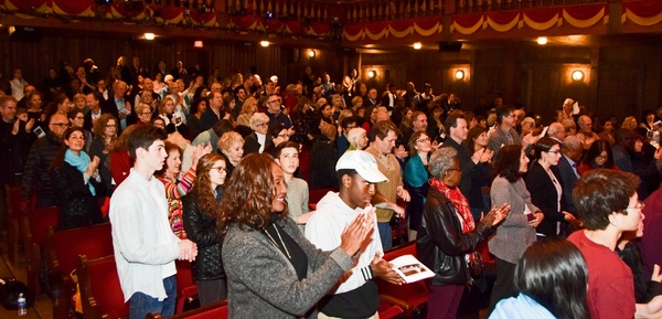 Audience in Westport Country Playhouse for Martin Luther King Day Celebration on Sunday, January 15.