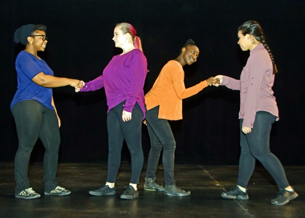 Students from Trumbull's Regional Center for the Arts present a spoken-word pi Photo