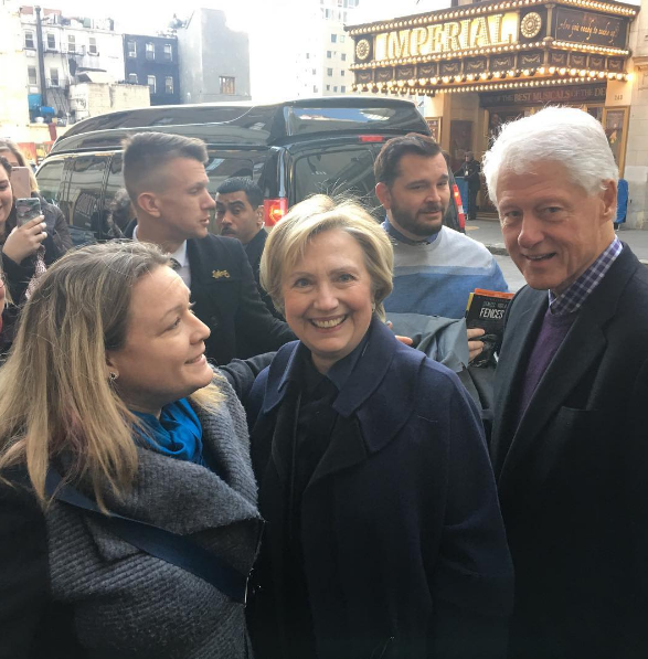 Hillary & Bill Clinton Met with Thunderous Applause at THE HUMANS Final Matinee Performance