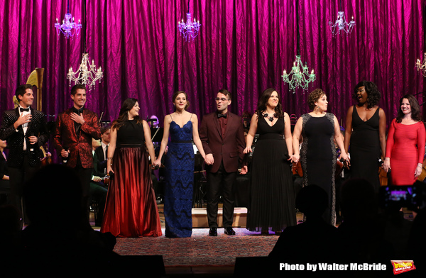 Will and Anthony Nunziata, Bayla Whitten, Laura Osnes, Luke S. Frazier, Lindsay Mendez, Lucia Spina, Amber Iman and Fran Drescher