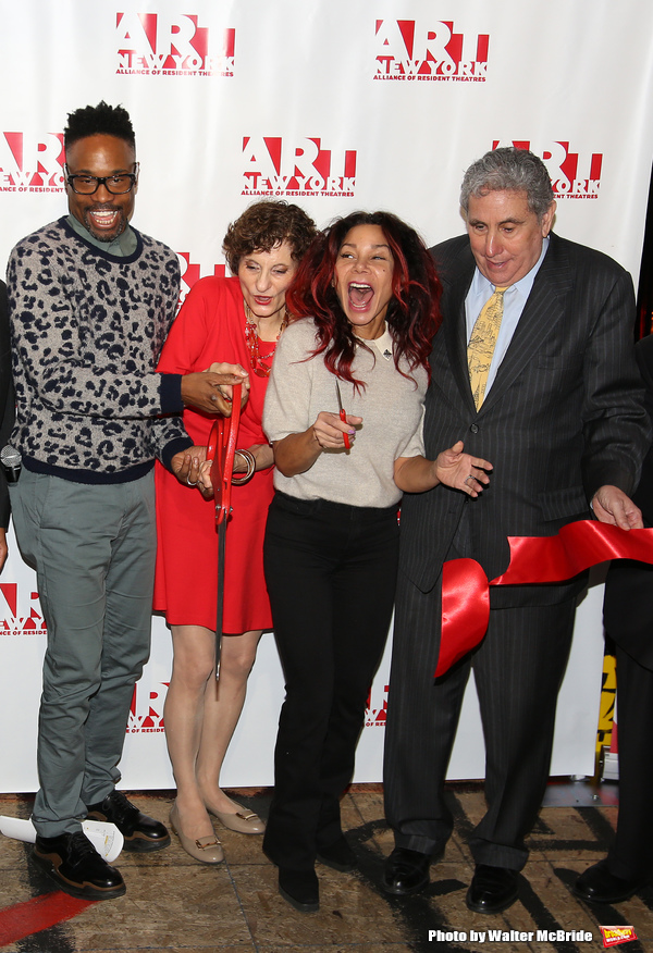 Billy Porter, executive director Virginia P. Louloudes, Daphne Rubin-Vega, Jeff Gural