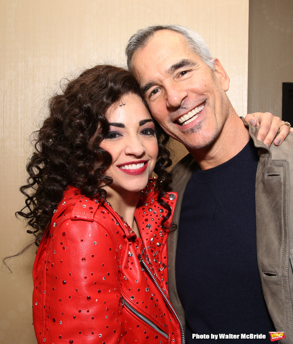 Ana Villafañe with director Jerry Mitchell