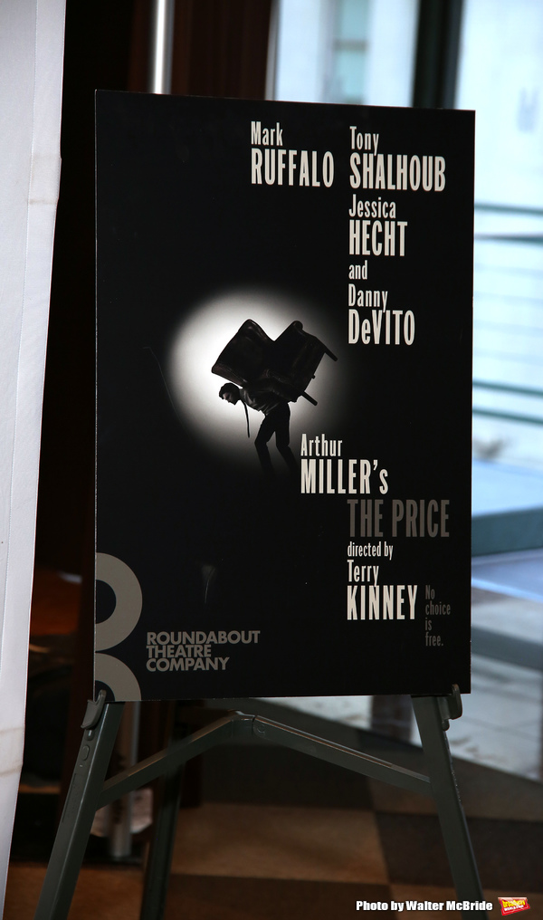 The Roundabout Theater Company production of Arthur Miller's 'The Price' starring Mark Ruffalo, Tony Shalhoub, Jessica Hecht and Danny DeVito at The Roundabout Theatre Studios on January 19, 2017 in New York City.