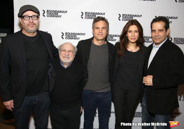 Director Terry Kinney, Danny DeVito, Mark Ruffalo, Jessica Hecht and Tony Shalhoub
