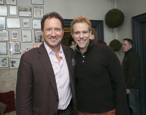 Producer Kevin McCollum and Adam Pascal