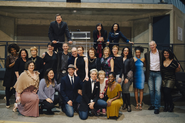 The company of ROE at the opening night at Arena Stage