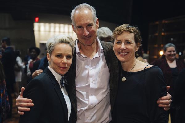 Cast members Sara Bruner (Norma McCorvey), Jim Abele (Flip Benham) and Sarah Jane Agn Photo