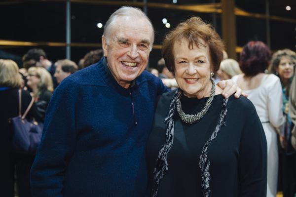 Cast members Richard Elmore and Pamela Dunlap Photo