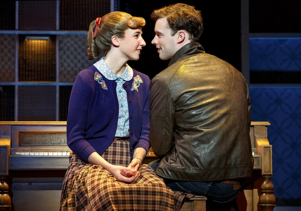 "Queens College. Julia Knitel (�""Carole King"") and Liam Tobin (�""Gerry Goffin"")"