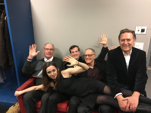 Paxton Whitehead, A. J. Shively, Bill Kux, Victor Slezak, and Talene Monahon