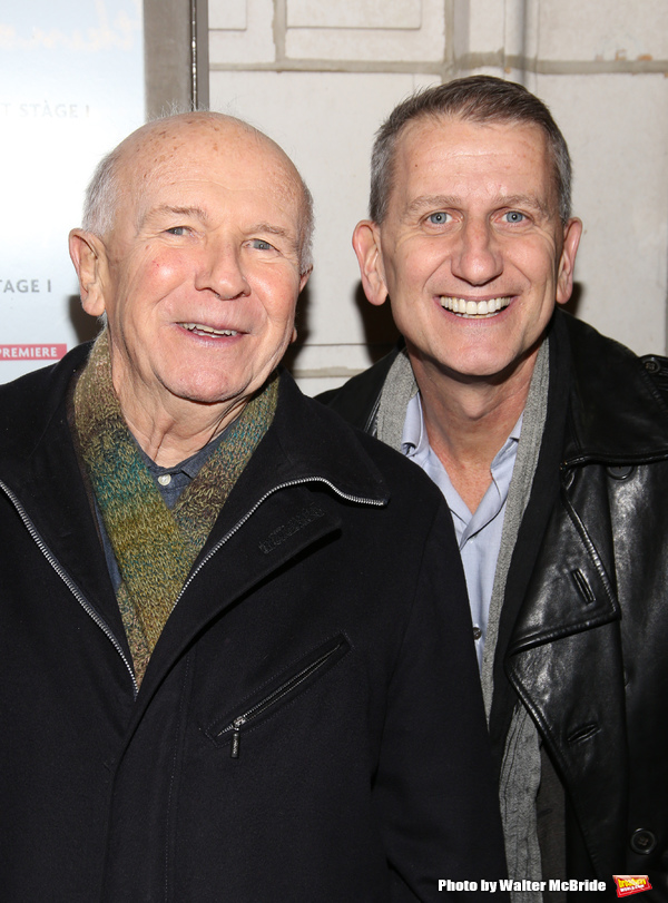 Terrence McNally with his husband Tom Kirdahy