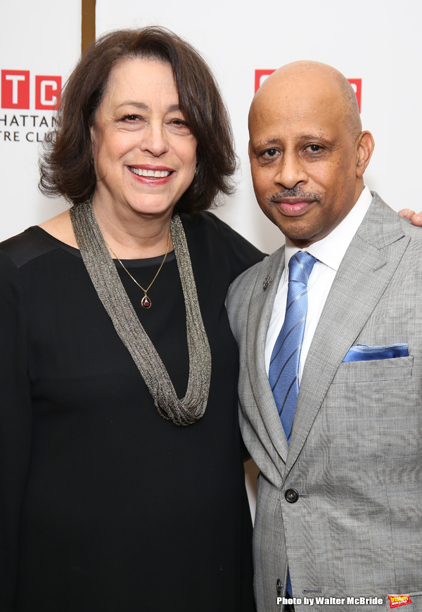 Lynne Meadow and Ruben Santiago-Hudson