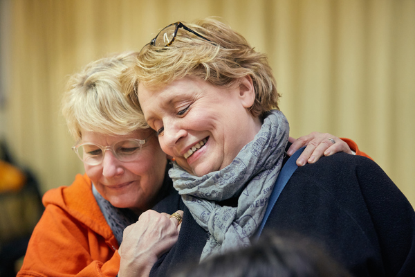 Sandi Toksvig and Joanna Monro