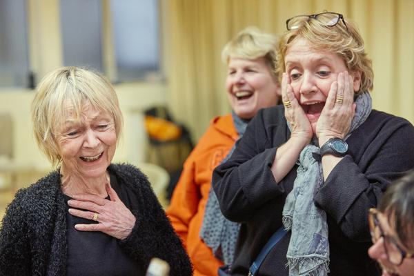 Sheila Reid, Sandi Toksvig, and Joanna Monro Photo