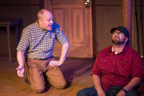Jeff Priskorn, Jonathan Jones in Popcorn Falls at Theatre NOVA