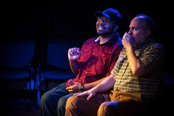 Jonathan Jones, Jeff Priskorn in Popcorn Falls at Theatre NOVA