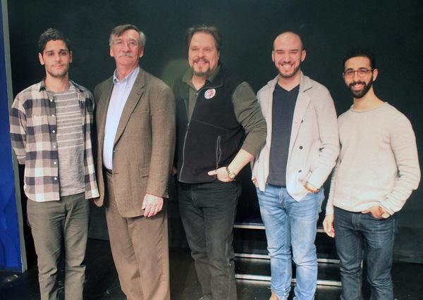 The Men of the Cast: Perry Sherman, John Little, Mark Delavan, Ari Axelrod and Jacob Heimer