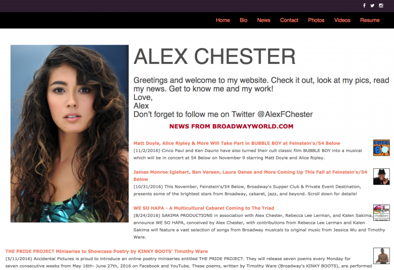 New from BroadwayWorld, Your Own Auto-Updating Official Web Site