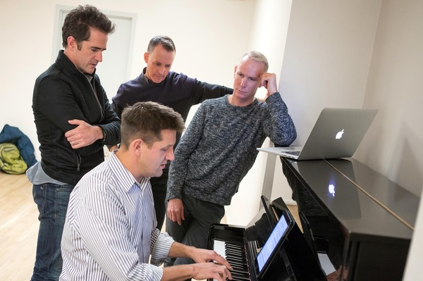 Andy Blankenbuehler, Robert Taylor,  Richard Oberacker, and Greg Anthony Rassen