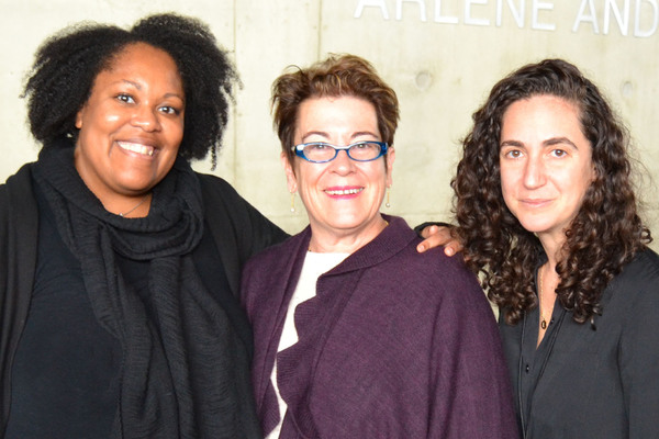 (L to R) Playwright Jacqueline E. Lawton, Arena Stage Artistic Director Molly Smith and director Daniella Topol at the first rehearsal of Intelligence, running February 24-April 9, 2017 at Arena Stage at the MeadCenter for American Theater. Photo courtesy