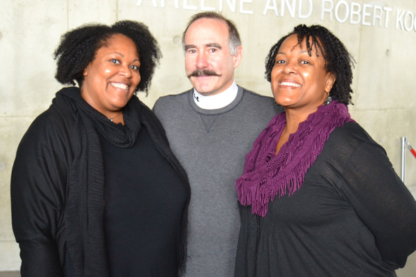 (L to R) Playwright Jacqueline E. Lawton, Aakhu TuahNera Freeman (Elaine) and Lawrenc Photo