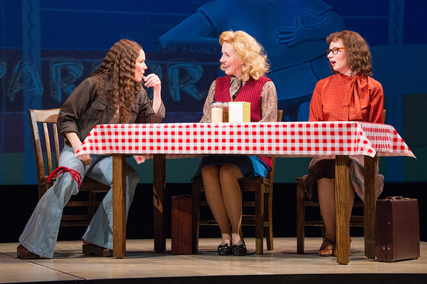 (L to R) Sara Bruner (as Norma McCorvey), Sarah Jane Agnew (as Sarah Weddington) and Susan Lynskey (as Linda Coffee) in Roe at Arena Stage at the Mead Center for American Theater, running January 12-February 19, 2017. Photo by C. Stanley Photography.