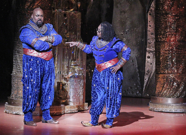 "THE VIEW -  Whoopi Goldberg recently made a surprise cameo with Tony-Award winner James Monroe Iglehart on stage at Disney's Aladdin.  Tune in to ABC's ""The View"" on Thursday, January 26 for a look at the performance and behind the scenes at the hit Broad"