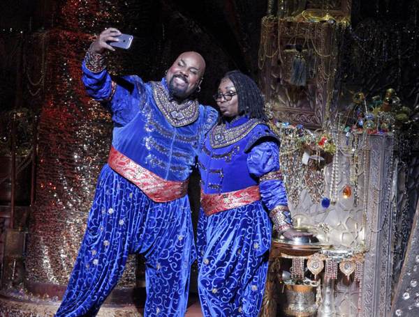 """THE VIEW -  Whoopi Goldberg recently made a surprise cameo with Tony-Award winner James Monroe Iglehart on stage at Disney's Aladdin.  Tune in to ABC's """"The View"""" on Thursday, January 26 for a look at the performance and behind the scenes at the hit Broad"""