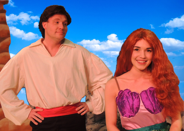 Jeremy Trammelle as Prince Eric with Bridey Puvel as Ariel
