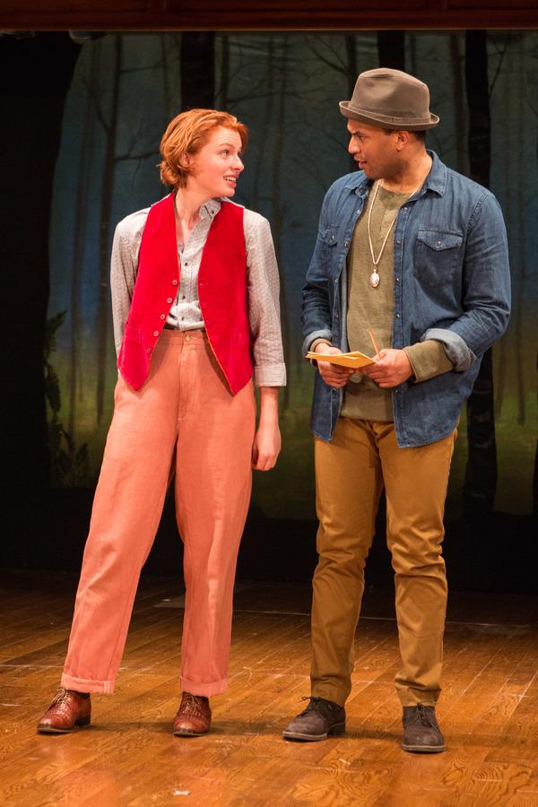Orlando (Lorenzo Roberts) taking courtship advice from Rosalind (Lindsay Alexandra Ca Photo