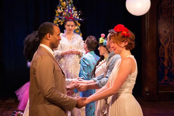 Orlando (Lorenzo Roberts) and Rosalind (Lindsay Alexandra Carter) wed in the enchante Photo