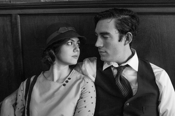 Riley Shanahan and Harriette Dunn-Feliz as Ernest and Hadley Hemingway. Photo by Adam Smith.
