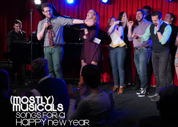 Mark Jacobson and Gregory Nabours led the company sing-a-long of 'Friends in Low Places'
