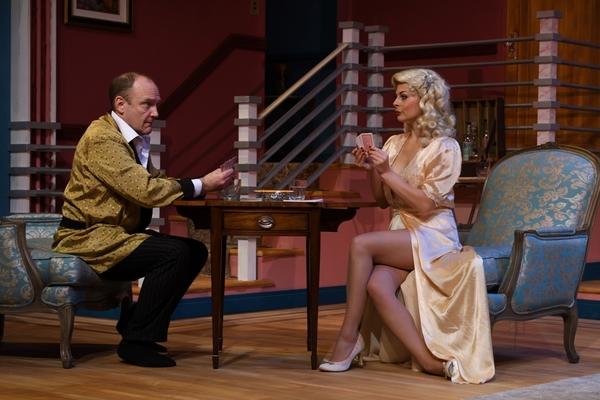 Lara Hayhurst and Robert Ierardi star as Billie Dawn and Harry Brock