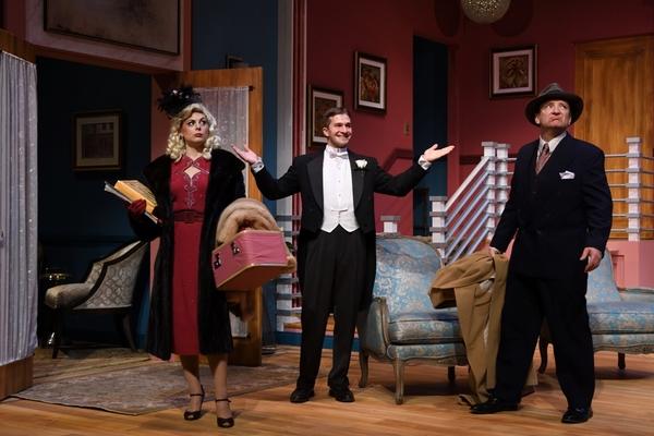 Lara Hayhurst, Michael Puppi and Robert Ierardi portray Billie Dawn, the Assistant Ho Photo