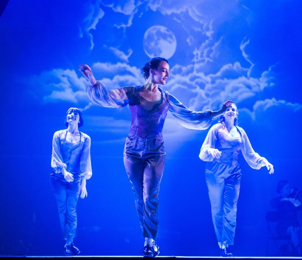 Chicago Tap Theatre's Jennifer Yonally, Kirsten Uttich and Aimee Chase in 'Moonlight,' choreography by Mark Yonally