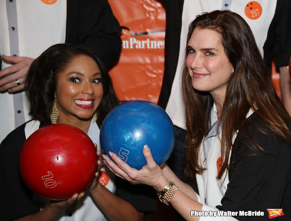 Alicia Quarles and Brooke Shields