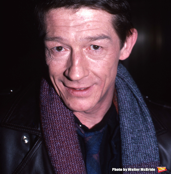John Hurt photographed at the NBC Building on January 15, 1985 in New York City.