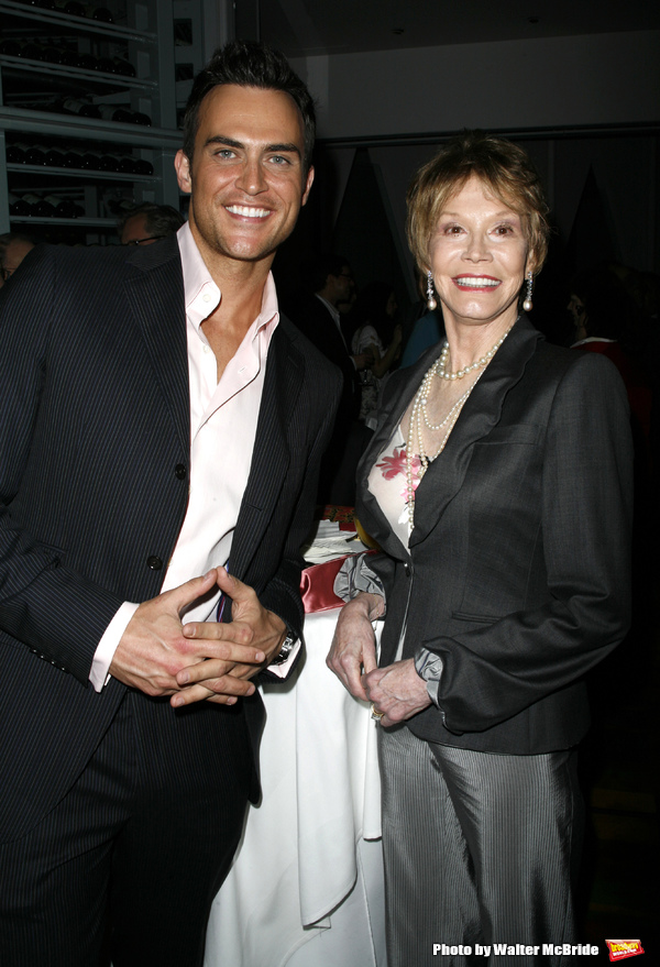 Cheyenne Jackson & Mary Tyler Moore attending the book Party for the debut release of Bernadette Peter's BROADWAY BARKS at Le Cirque Restaurant in New York City. May 12, 2008