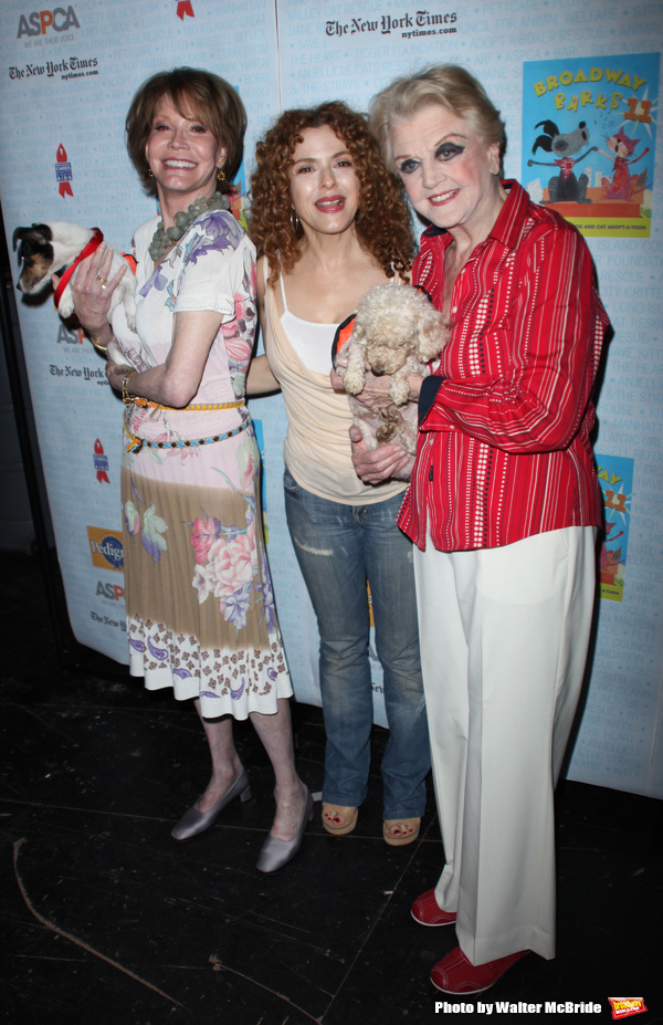 Mary Tyler Moore & Bernadette Peters & Angela  attending A Star-Studded Dog and Cat Adopt-A-Thon, BROADWAY BARKS 11, sponsored by ASPCA and Pedigree in Shubert Alley, New York City. July 11, 2009