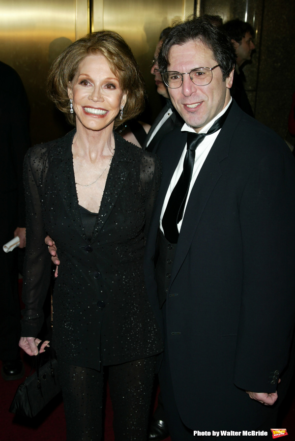 MARY TYLER MOORE and her husband ROBERT LEVINE The 56th Annual Tony Awards Radio City Music Hall New York City June 2, 2002