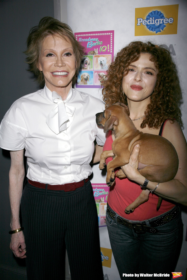 Mary Tyler Moore & Bernadette Peters attending BROADWAY BARKS 10 : The 10th Annual Ad Photo