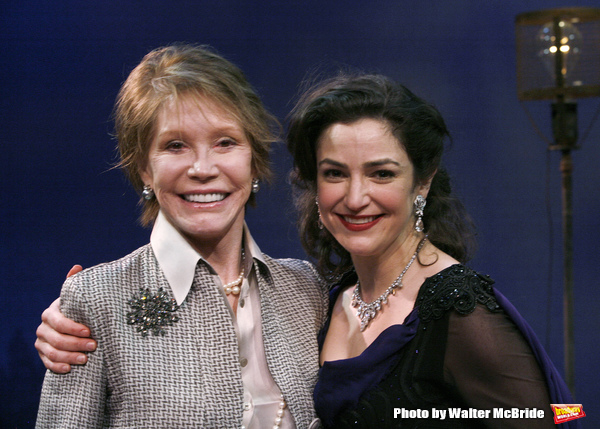 "***EXCLUSIVE COVERAGE*** Mary Tyler Moore visits the cast of ""Enter Laughing"" at the York Theatre Company in New York City. February 26, 2009 pictured: Mary Tyler Moore & Marla Schaffel"