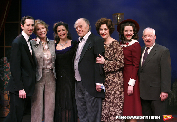 "***EXCLUSIVE COVERAGE*** Mary Tyler Moore visits the cast of ""Enter Laughing"" at the York Theatre Company in New York City. February 26, 2009 pictured: Josh Grisetti, Michael Tucker, Mary Tyler Moore, marla Schaffel, Bob Dishy, Jill Eikenberry,"